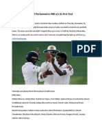 Suranga Lakmal Well Performed in IND Versus SL First Test Match