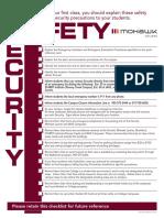 Faculty Classroom Checklist - 2013