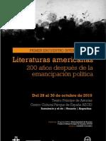 Programa - Encuentro Internacional Literaturas Americanas