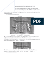 Identifying Zoroastrian Gods on Achaemenid Seals