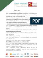 Programa Symposium Aragonés de Gestión en El Deporte 2017