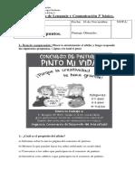 Prueba de Lenguaje y Comunicación 3º básico noviembre