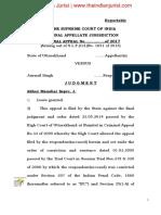 State of Uttarakhand v. Jairnail Singh
