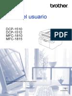 Manual Impresora Brother 1512
