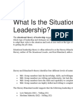 What is the Situational Theory of Leadership