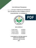 Makalah Sistem Informasi Manajemen Kelompok 2 E-commerce Full
