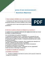 Environnement d'Entreprise Questions Réponses (1)
