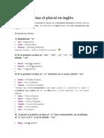 Como Se Forma El Plural en Inglés