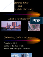 Columbus Ohio and the Ohio State University