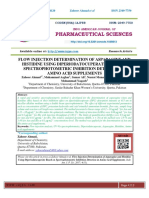 FLOW INJECTION DETERMINATION OF ASPARAGINE AND HISTIDINE USING DIPERIODATOCUPERATE BASED ON SPECTROPHOTOMETRIC INHIBITION DETECTION IN AMINO ACID SUPPLEMENTS