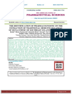 THE IDENTIFICATION OF PHARMACOGNOSTIC ON THE EXTRACTION OF TRADITIONAL MEDICINE TO LANSAU OF MUNA ETHNIC OF SOUTHEAST SULAWESI PROVINCE