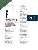 Free@3 Schedule