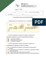 Ficha de Avaliação FQ