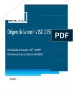 Origen de La Norma ISO 21500
