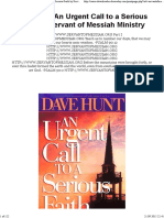 Download as PDF Hunt Dave an Urgent Call to a Serious Faith by Servant of Messiah Ministry