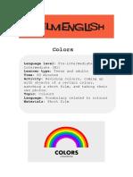 Colors Lesson Instructions