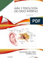 01. Anatomía y Fisiología de Oído Interno UAS