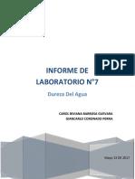 Informe 7 Contaminacion Hidrica Dureza