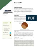 MacBook Air Environmental Report