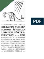Liebenfels Lanz Von - Theozoologie