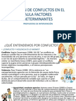 Gestión de Conflictos en El Aula Factores Determinantes