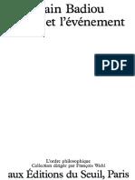 Alain Badiou - L'Être Et l'Évèmenement