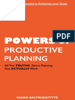 Powers of Productive Planning