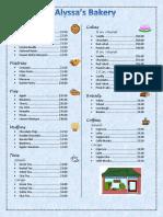 bakery menu-alyssa mercincavage
