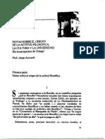 Jorge Acevedo. Notas Sobre El Origen de La Actitud Filosofica