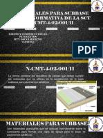 Materiales Para Subbase Según Normativa de La Sct