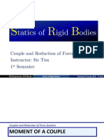 Couple and Reduction of Force Systems