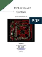 Manual de Usuario Varitek19b