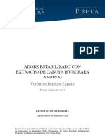 Adobe Estabilizado Con Extracto de Cabuya