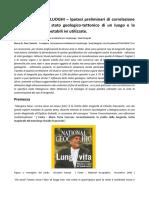 GEOBIOFISICA DEI LUOGHI Ipotesi Preliminari Di Correlazione Tra Longevità e Lo Stato Geologico Tettonico Di Un Luogo e La Tipologia Di Acque Potabili Utilizzate