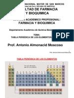 4º Semana 2015-1, Tabla Periodica y Nomenclatura