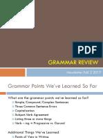 grammar review ppt newsletter fall 2