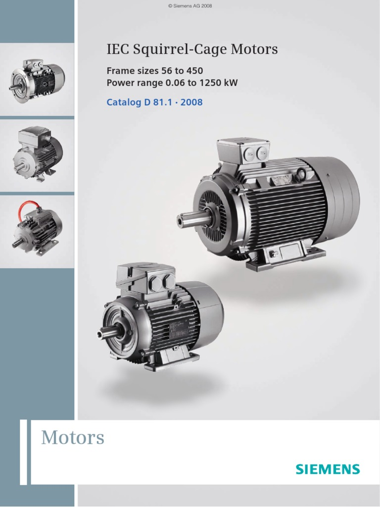Siemens Iec Motor Catalog Electric Motor