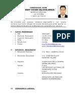 Curriculum Vitae - Robert Oscar Calcina Apaza (1)