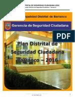 Plan Distrital de Seguridad Ciudadana 2016-Barranco