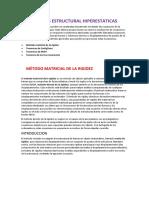Análisis de Estructuras Hiperestáticas