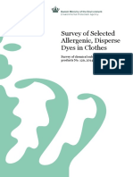 Survey of Selected Allergenic, Disperse Dyes in Clothes