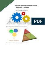 Material para gestión de la innovación basada en procesos, proyectos y calidad