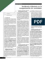2.Incidencia Tributaria en La Reorganización de Sociedades (1)