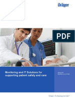 Infinity Bedside Solutions; Monitoring and IT Solutoins for Supporting Patient Safety and Care