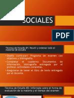 Técnicas de Estudio de Ciencias Sociales