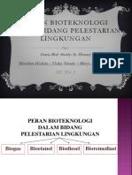 Bioteknologi Pelestarian Lingkungan
