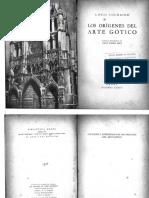 Los Orígenes Del Arte Gótico LOUIS COURAJOD
