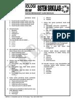 Quizz Kelas VIII SMP - Sistem Sirkulasi