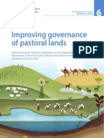 Improving governance of pastoral lands Governance of Tenure Technical Guide