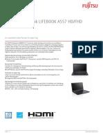 Fujitsu Lifebook A557 Datenblatt